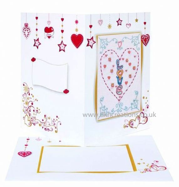 Valentine  Embroidery Card Kit